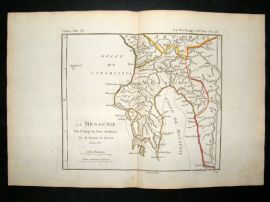 Barthelemy 1790 Antique Map Messenia, Greece